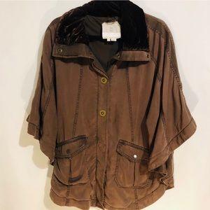 Hei Hei Anthropologie Brown Pancho/Jacket
